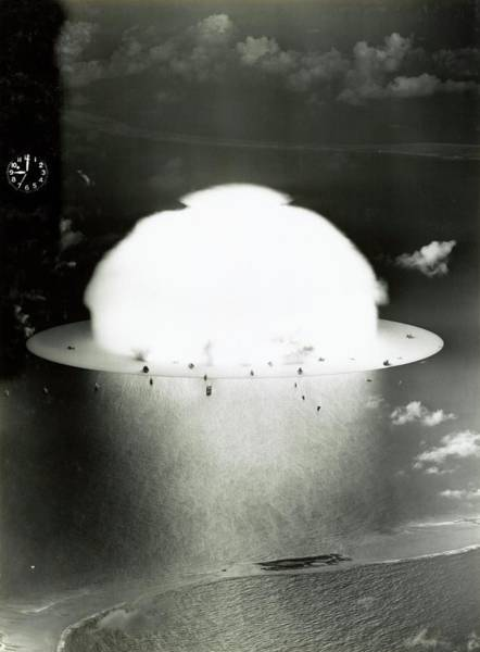 Test Of Time Photograph - Operation Crossroads Atom Bomb Test by Library Of Congress
