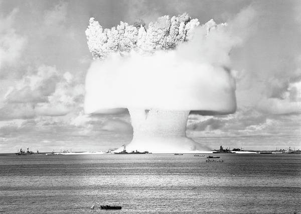 Atomic Bomb Photograph - Operation Crossroads Atom Bomb Test by Us Navy/science Photo Library