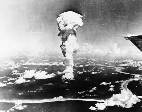 Atomic Bomb Photograph - Operation Crossroads Atom Bomb Test by Us Navy/us National Archives/science Photo Library