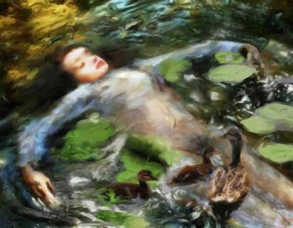Ophelia Painting - Ophelia by Gregory Damian Green