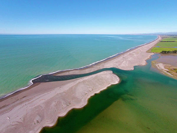 Wall Art - Photograph - Opihi River Mouth, South Canterbury by David Wall