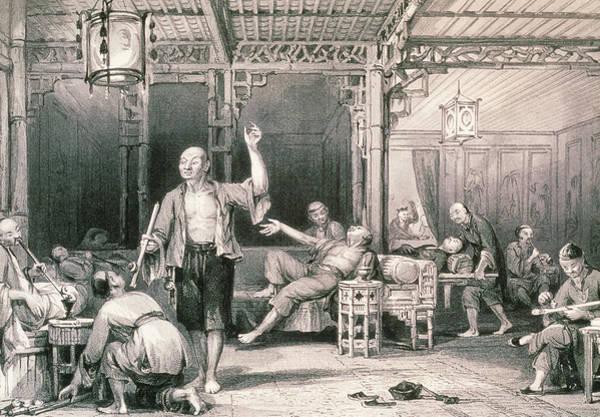 Opium Smokers In An Opium Den Art Print