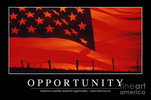 Photograph - Opportunity Inspirational Quote by Stocktrek Images