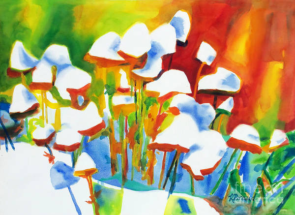 Non Representational Painting - Opposites Attract by Kathy Braud