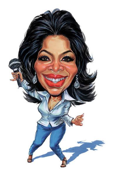 Television Program Painting - Oprah Winfrey by Art