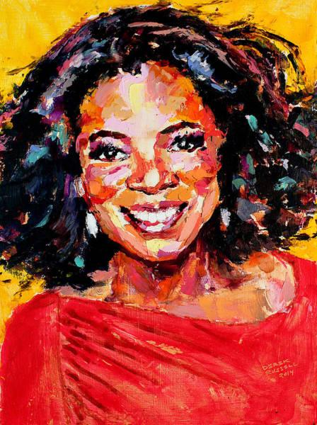 Oprah Wall Art - Painting - Oprah Winfrey by Derek Russell