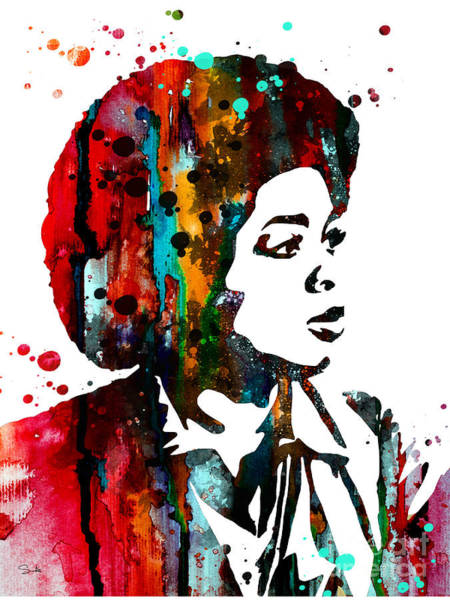 Oprah Wall Art - Painting - Oprah Winfrey by Watercolor Girl