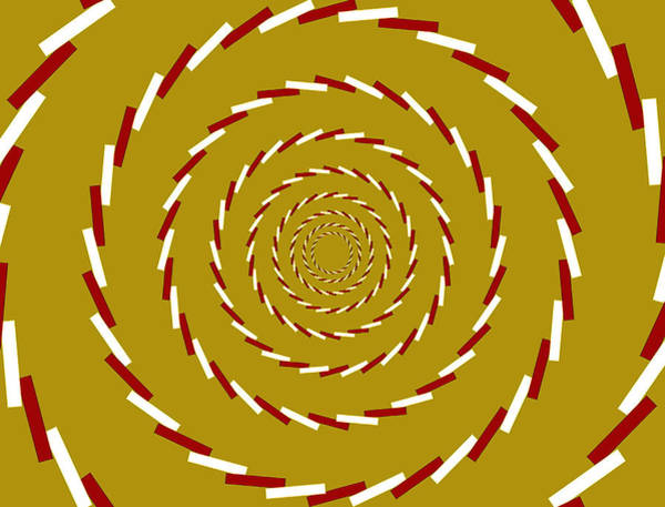 Rotating Digital Art - Optical Illusion Whirlpool by Sumit Mehndiratta