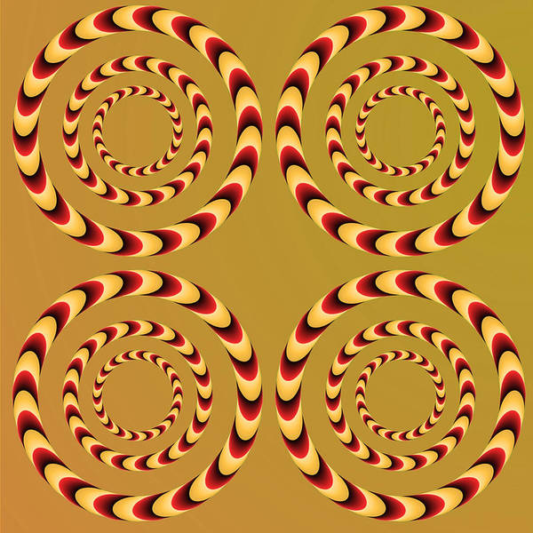 Rotating Digital Art - Optical Ilusions Summer Spin by Sumit Mehndiratta