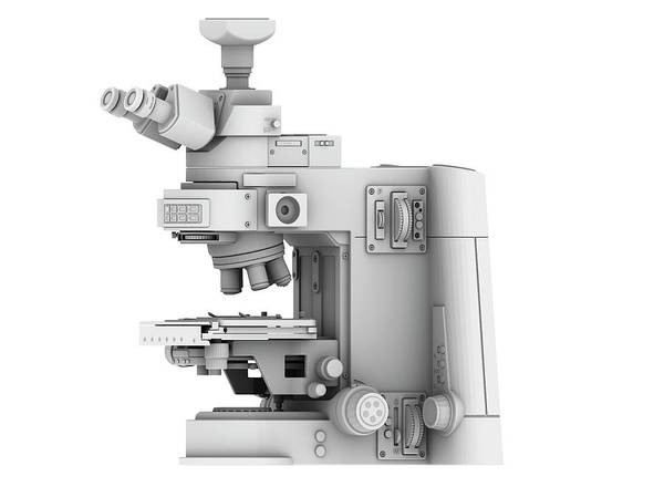 Microscope Wall Art - Photograph - Optical Light Microscope With Camera by Alfred Pasieka/science Photo Library