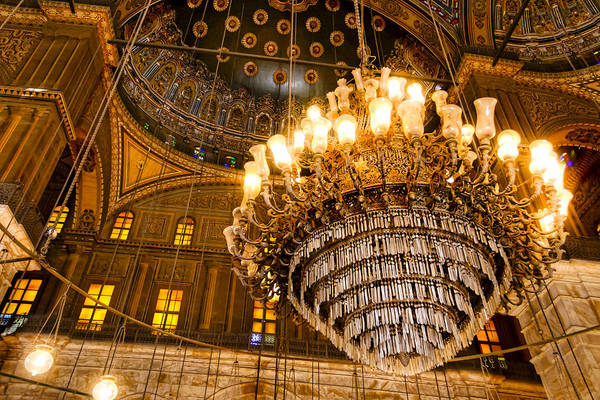 Photograph - Opulent Interior Of The Alabaster Mosque In Cairo by Mark Tisdale