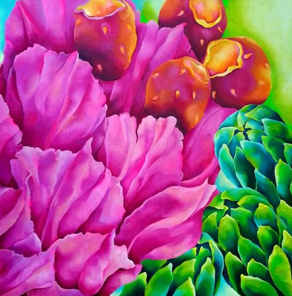 Wall Art - Painting - Cactus by Elizabeth Elequin
