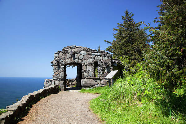 Civilian Conservation Corps Wall Art - Photograph - Or, Cape Perpetua Scenic Area, Shelter by Jamie and Judy Wild