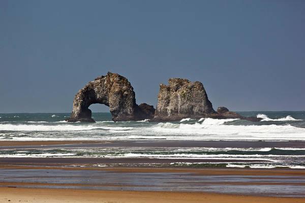 Rockaway Photograph - Or, Oregon Coast, Rockaway Beach, Twin by Jamie and Judy Wild