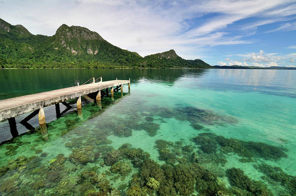 Jetty Photograph - Ora Beach Moluccas Indonesia by Barry Kusuma