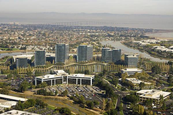 San Mateo Bridge Wall Art - Photograph - Oracle Corporation Worldwide Headquarters by Scott Lenhart