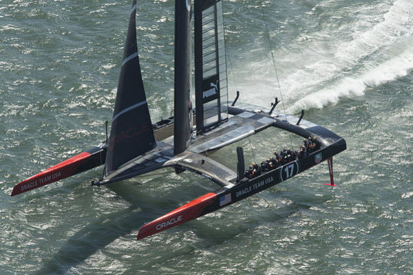 Oracle Wall Art - Photograph - Oracle Team Usa - 3 by Gilles Martin-Raget