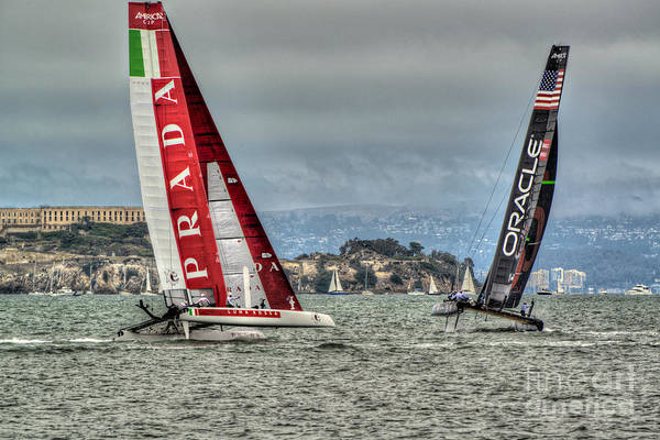 Ac45 Photograph - Oracle V. Prada At Alcatraz by Ryan Hughes