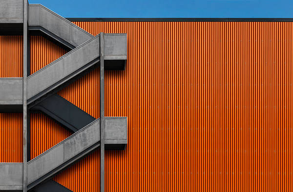 Composition Photograph - Orange Abstraction by Alfonso Novillo