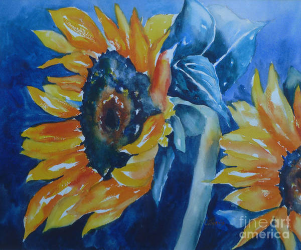 Painting - Orange And Blue by Carolyn Jarvis