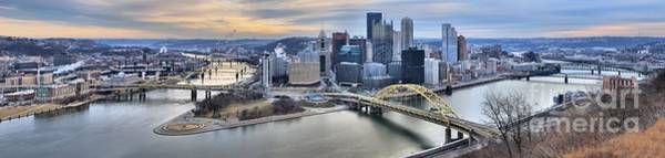 Photograph - Orange And Blue Over Pittsburgh by Adam Jewell
