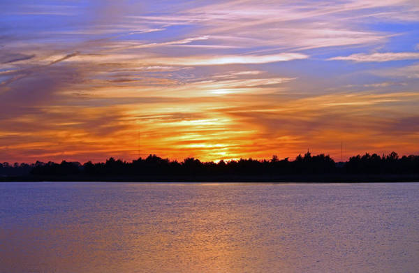 Photograph - Orange And Blue Sunset by Cynthia Guinn
