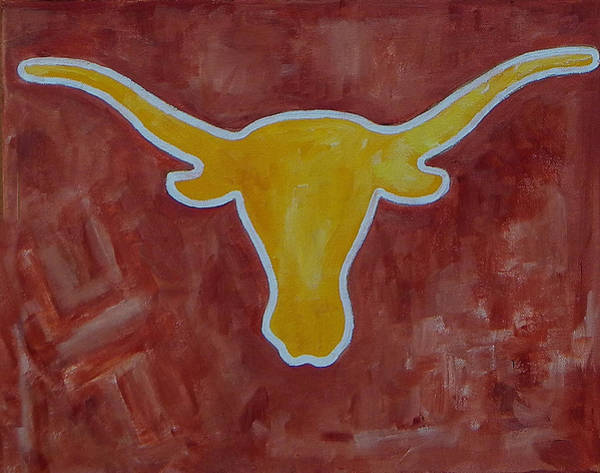 Painting - Orange And Yellow Longhorn by Patti Schermerhorn
