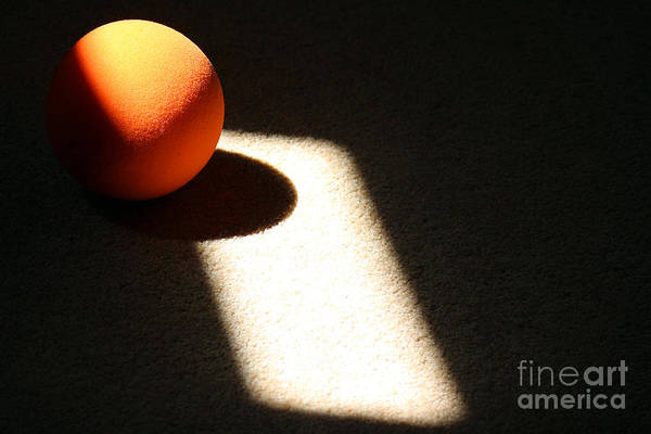 Photograph - Orange Ball Abstract Horizontal by Karen Adams