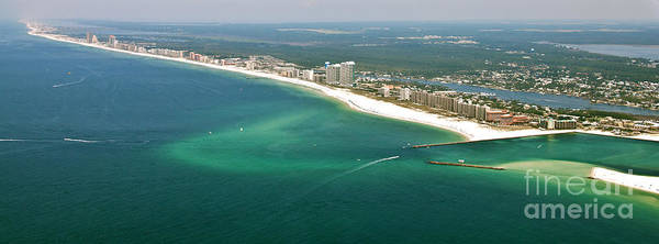 Photograph - Looking N W Across Perdio Pass To Gulf Shores by Gulf Coast Aerials