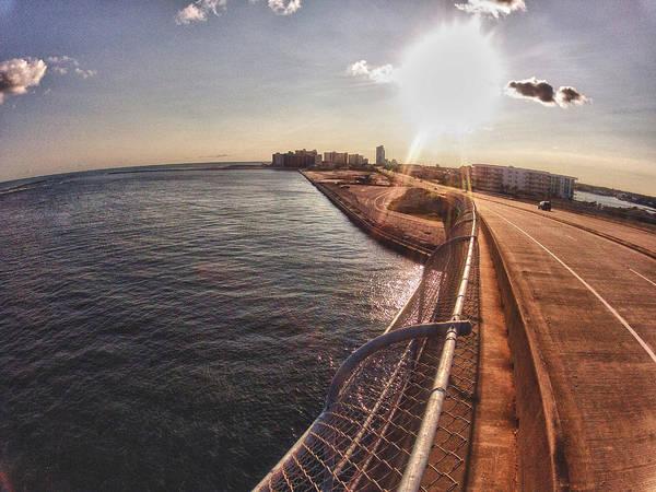 Wall Art - Digital Art - Orange Beach From Perdido Bridge by Michael Thomas