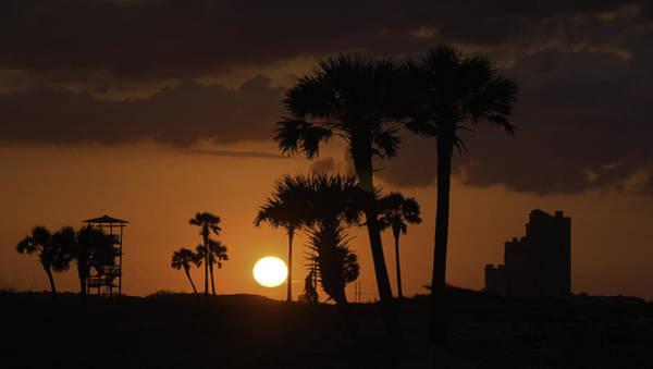 Digital Art - Orange Beach Sunrise Orange by Michael Thomas