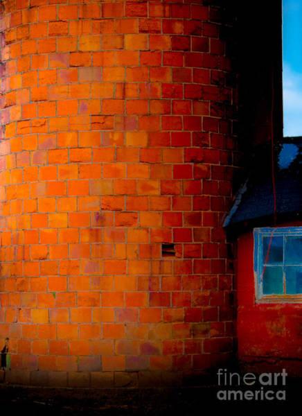 Photograph - Orange Block Silo by Michael Arend