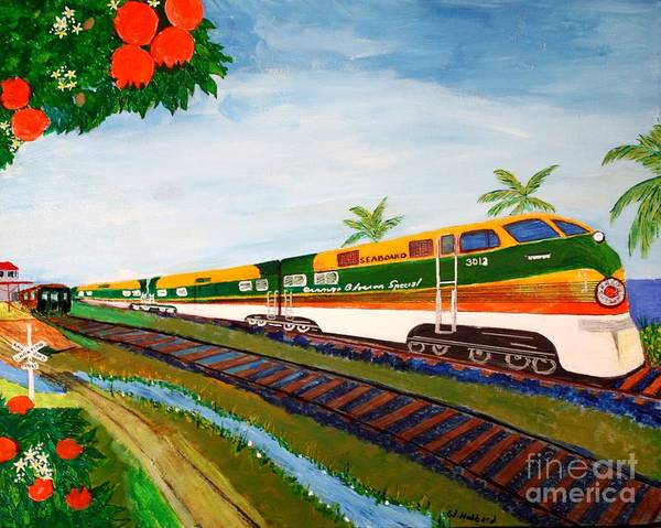 Diesel Trains Painting - Orange Blossom Special by Bill Hubbard