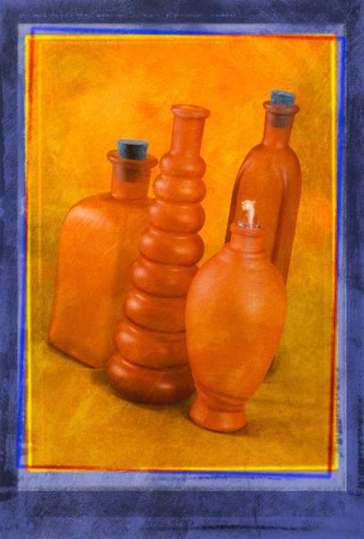 Photograph - Orange Bottles by Mauro Celotti