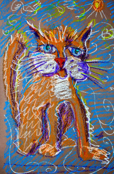 Painting - Orange Cat by Maxim Komissarchik