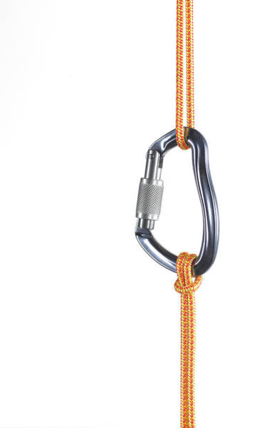 Climbing Photograph - Orange Climbing Rope Connected By by Peter Dazeley