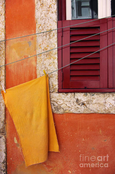 Neighborhood Photograph - Orange Cloth  by Carlos Caetano