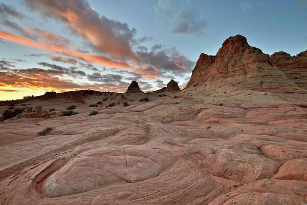 Vermilion Cliffs National Monument Wall Art - Photograph - Orange Clouds At Sunrise Above by James Hager / Robertharding