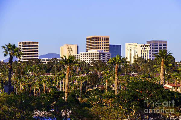 Orange County California Office Buildings Picture Art Print by Paul Velgos