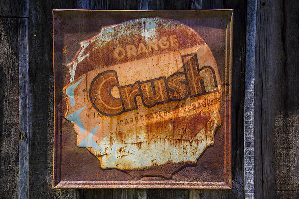 Wall Art - Photograph - Orange Crush Sign by Garry Gay