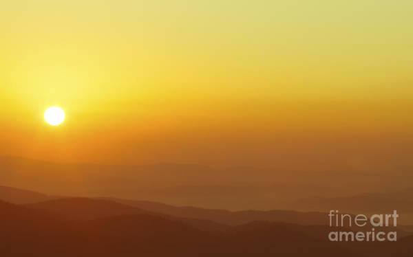 Photograph - Orange Crush Sunrise Over The Blue Ridge Mountains by Jo Ann Tomaselli