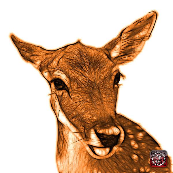 Digital Art - Orange Deer - 0401 Fs by James Ahn