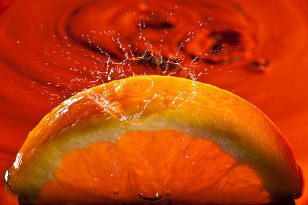 Wall Art - Photograph - Orange Freshsplash 2 by Steve Gadomski
