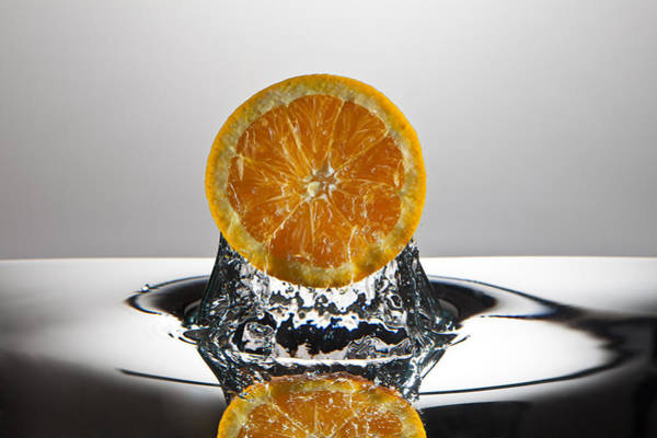 Wall Art - Photograph - Orange Freshsplash by Steve Gadomski