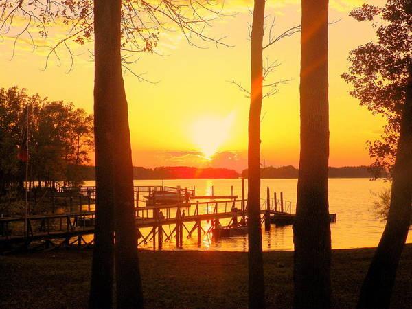 Sun Set Photograph - Orange Glow Sunset by Lisa Wooten