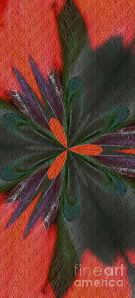 Digital Art - Orange Green And Purple by Smilin Eyes  Treasures