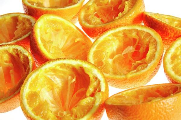 Wall Art - Photograph - Orange Halves by Kevin Curtis/science Photo Library