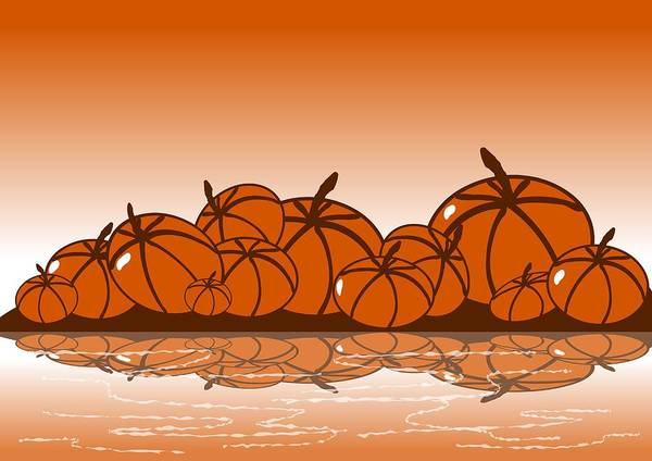 Wall Art - Digital Art - Orange Harvest by Anastasiya Malakhova