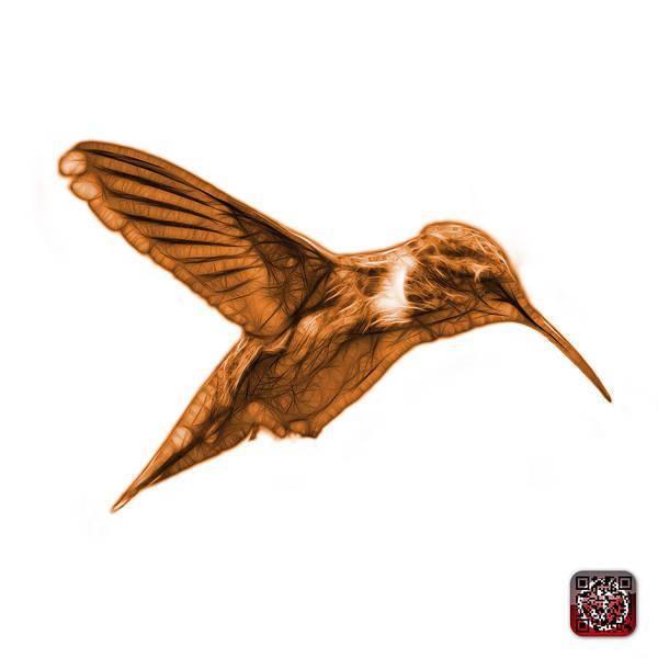 Digital Art - Orange Hummingbird - 2054 F S by James Ahn