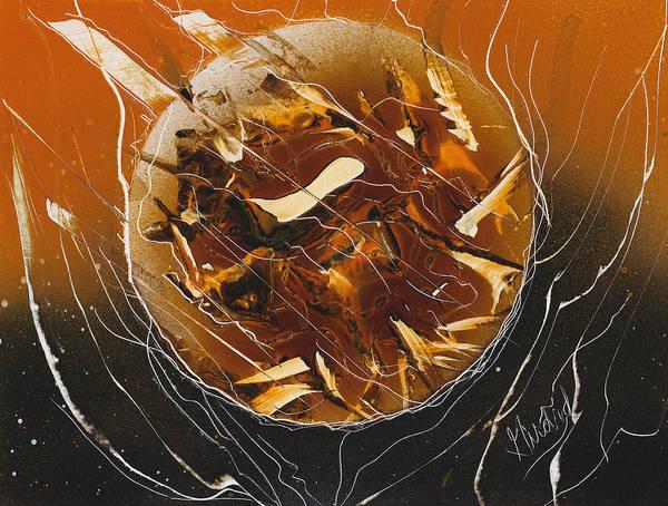 Painting - Orange Inferno by Jason Girard